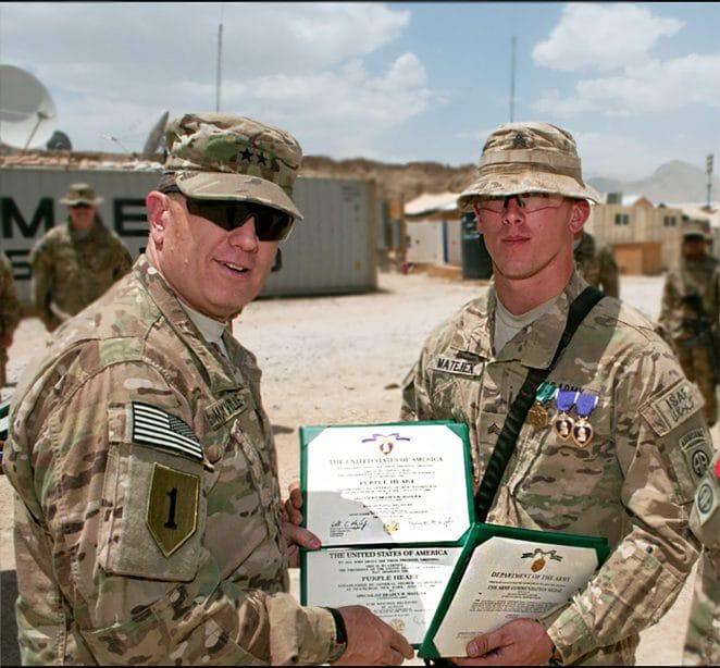 Braden Matejek serving in the military