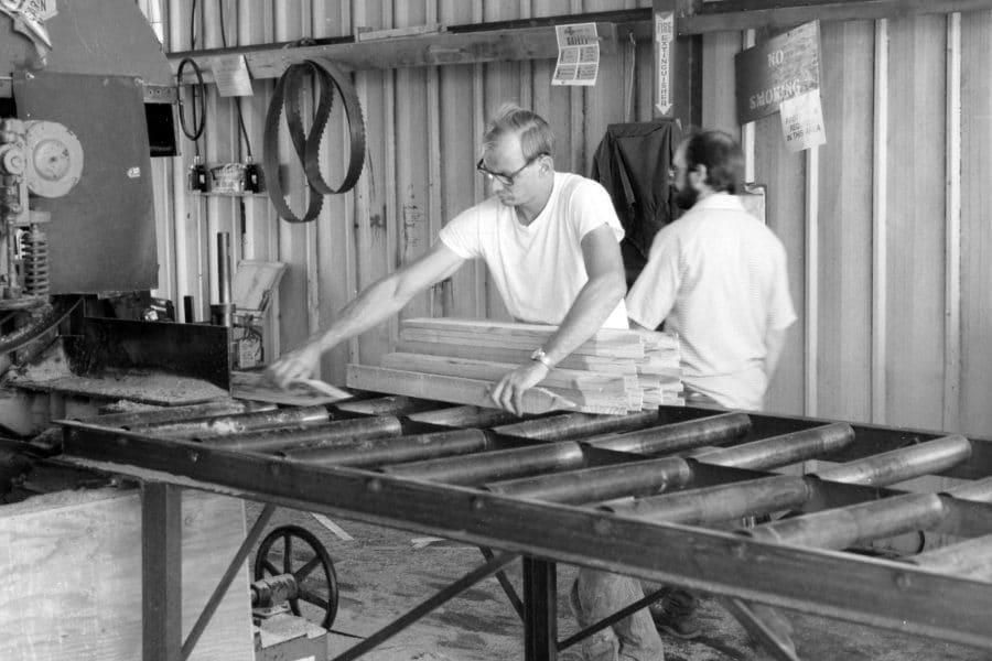 Historical photo of PRIDE Industries employee working