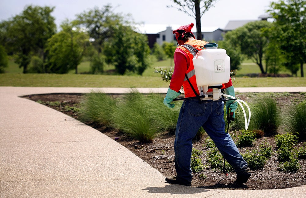 Image of landscaping technician