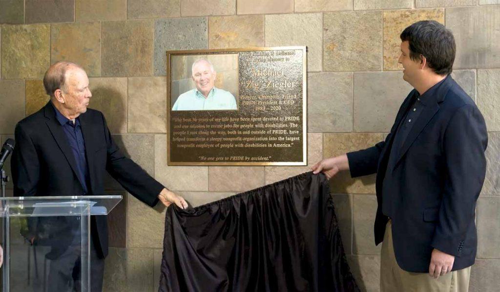 Image of Mike Ziegler's plaque