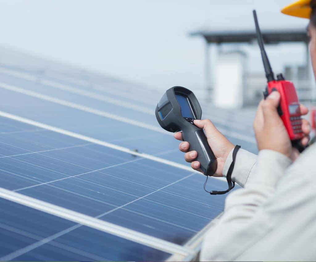 Image of solar technician