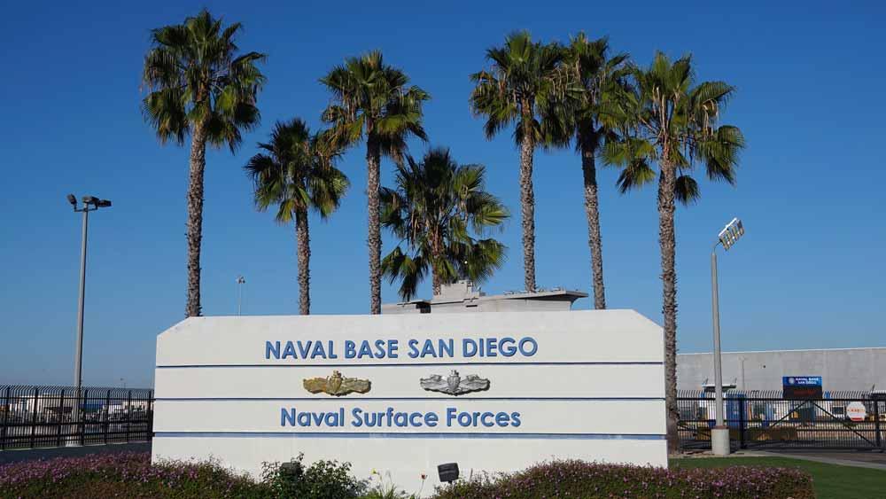 Image of naval base in San Diego